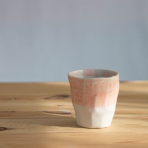 Large Ceramic Cup Pink coffee capuccino