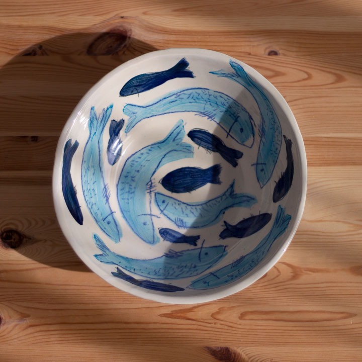 Fishes Serving Bowl